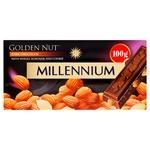 Шоколад Millennium Gold Nut черный с целым миндалем 100г