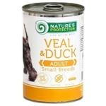 Корм Нейчерал Протекшн Догс 400г телятина та качка для дорослих собак малих порід від 1року ндс