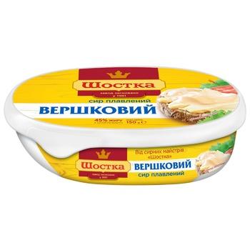 Сыр Шостка Сливочный плавленый 45% 150г - купить, цены на СитиМаркет - фото 1