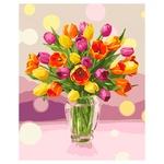 Набір для творчості Ідейка КНО3064 Сонячні тюльпани 40х50см