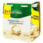 Біфідойогурт Активіа імбир-мед 1,4% 4шт*100г