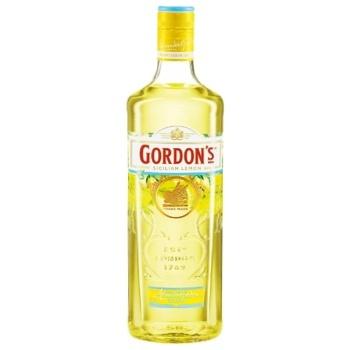 Gordon's Sicilian Lemon Based on Gin Alcoholic Drink 37,5% 0,7l - buy, prices for CityMarket - photo 1