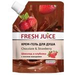 Крем-гель для душу Fresh Juice Шоколад і полуниця 200мл