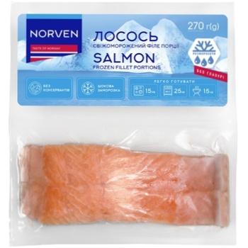 Филе лосося Norven свежемороженное 2х135г