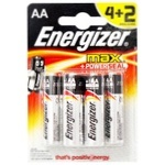 Батарейка Energizer Max AA 4+2шт