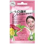 Біо маска для обличчя Eveline Look Delicious Кавун-лимон з натуральним скрабом 10мл