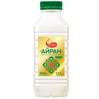 Напій кисломолочний Агромол Айран 1.7% 500г пл/у