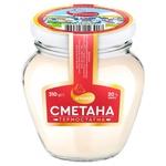 Sour cream Agromol 20% 310g glass jar Ukraine