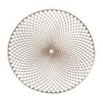 Подставка Zeller Mandala под тарелку ПВХ 38см золотой