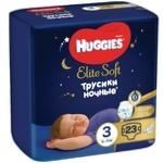 Подгузники-трусики Huggies Elite Soft Overnights 3 6-11кг 23шт