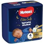 Підгузники-трусики Huggies Elite Soft Overnights Pants 4 нічні 9-14кг 19шт