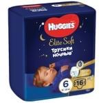 Подгузники-трусики Huggies Elite Soft Overnights Pants 6 ночные 15-25кг 16шт