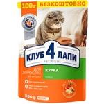 Корм Клуб 4 лапы Премиум курица для взрослых кошек 900г