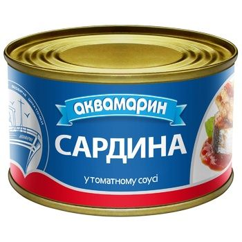 Сардины Аквамарин в томатном соусе 230г - купить, цены на Пчёлка - фото 2