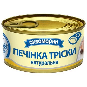 Печінка тріски Аквамарин Натуральна 100г - купить, цены на Восторг - фото 1