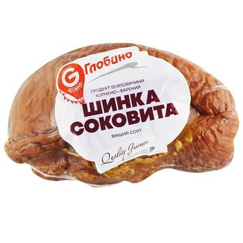 Шинка Глобино Соковита з яловичини копчено-варена вищого сорту - купити, ціни на Ашан - фото 1