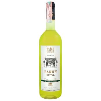 Вино Baron du Val белое полусладкое 10% 0,75л