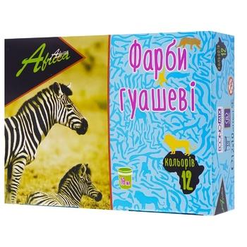 Фарби гуашеві Africa 12 кольорів