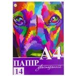 Папір Тетрада кольоровий А4 14шт