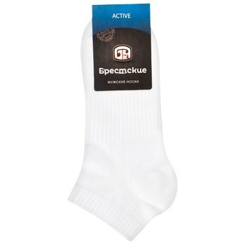 Носки мужские Брестские Active укороченные белый размер 25