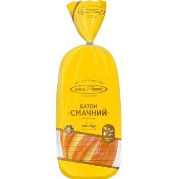 Батон Київхліб Смачний нарізані скибками в упаковці 500г - купити, ціни на Бджілка - фото 1