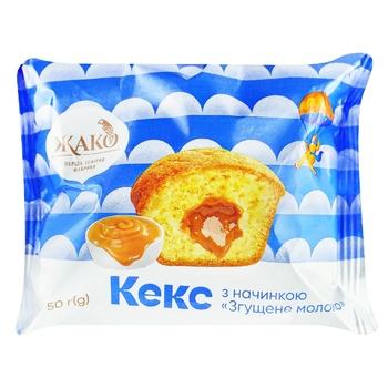 Кекс Жако со сгущенным молоком весовой - купить, цены на Ашан - фото 1