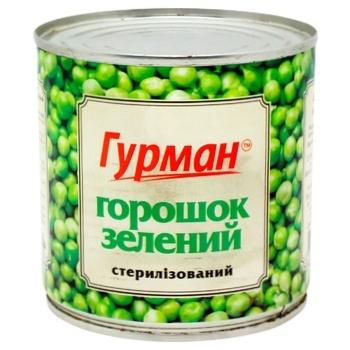 Горошок Гурман зелений 420г