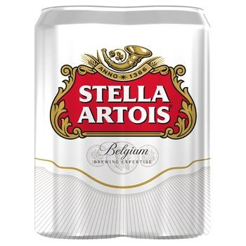 Stella Artois Lager beer 4*0,5l can - buy, prices for CityMarket - photo 1