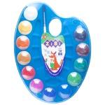 Фарби ZiBi акварельні на палітрі 12 кольорів