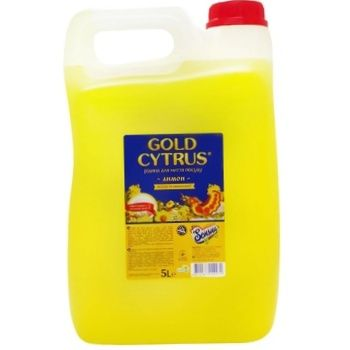 Засіб Gold Cytrus для миття посуду Лимон 5л х6