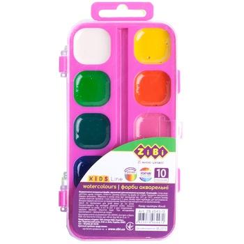 Фарби ZiBi акварельні 10 кольорів - купити, ціни на МегаМаркет - фото 1