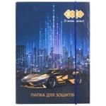 Папка ZiBi Car для зошитів картонна на гумках В5+ 17.5х24х2.5cм