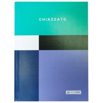 Notebook Buromax Chiazzato A5 80 sheet checkered green