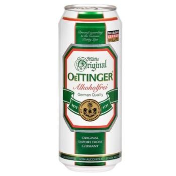 Пиво Oettinger Alkoholfrei світле безалкогольне фільтроване 0,5% 0,5л - купити, ціни на Ашан - фото 1