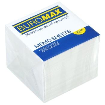 Блок белой бумаги для заметок BuroМax 90*90mm 900 листов