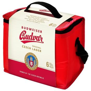 Будвайзер 6 банкок 0,5 ж.б.+сумка холодильник
