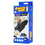 Freken Bok Black Latex Gloves Size L 50pcs