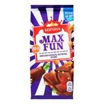 Korona Max Fun Milk Chocolate with Explosive Caramel Marmalade and Cookies 160g