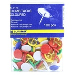 Кнопки канцелярські Buromax кольорові в пластиковому контейнері 100шт