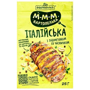 Приправа Pripravka Итальянская для картофеля с пармезаном и чесноком 25г - купить, цены на Восторг - фото 1
