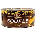 Торт БКК Soufle глазурований з арахісом 450г