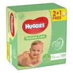 Салфетки детские Huggies Natural Care 2+1 3*56шт