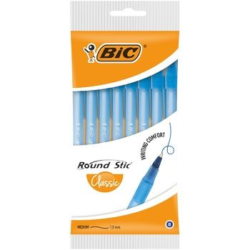 BIC Round Stick Ballpoint Pens 8pcs