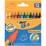 Мелки BIC восковые цветные 12 цветов