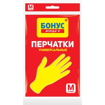 Rubber gloves Bonus size M Ukraine