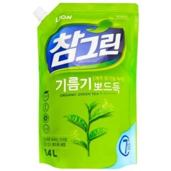 Средство для мытья посуды Lion зеленый чай 1,34л