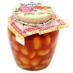 Фасоль Хуторок в томатном соусе 350г