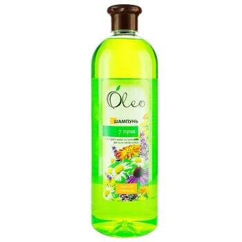 Шампунь Oleo с натуральными экстрактами семи трав 1л