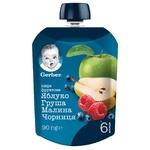 Пюре Gerber Яблоко груша малина черника 90г