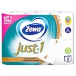 Zewa Just 1 White Five-Layer Toilet Paper 6pcs